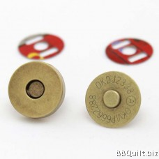 Magnetic Snap Closures Antique Brass 14 18mm