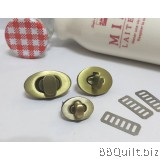 Oval Shaped Turn Lock|Bag Lock In Antique Brass|3 sizes