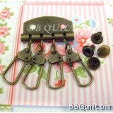 Key row in antique Bronze|DIY key pouch|DIY Keychains holder bag material