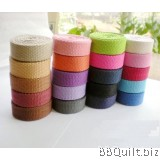 20mm width|Polyester-cotton Canvas Webbing|Bag Straps|10 colours