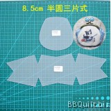 Purse Frame Stencil Template Set|Half round mixed style|Reuseable frosted pvc template|Gamaguchi bag