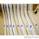1~4cm White/Natural Cotton Cluny Lace|9 styles
