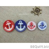 Stock clearance|DIY Craft supplies|Anchor plastic button|Marine button|39pcs/pcks