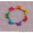 Stock clearance|DIY Craft supplies|Butterfly buttons|Colour wood Buttons|30pcs/pcks