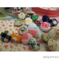 Fabric Covered Buttons Loop shank button DIY Craft supplies 7 Sizes