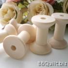 2x Wooden Thread Spools|Wooden bobbins|Natural Color|2.6*4CM